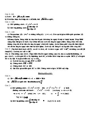 Đề kiểm tra môn Toán Học Lớp 10 (Kèm đáp án)