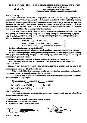 Đề thi môn Hóa học Lớp 11 (Dành cho học sinh