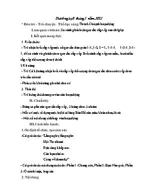 Giáo án Thể dục Lớp Mầm - Năm học 2014-215