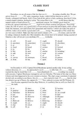 Tổng hợp bài điền từ vào chỗ trống môn Tiếng